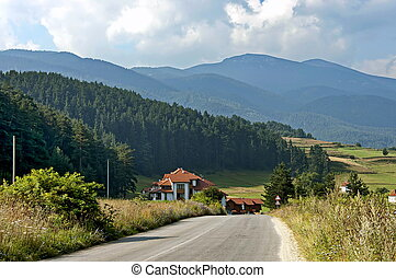 Rila mountain, Bulgaria - Road between villages in Rila...