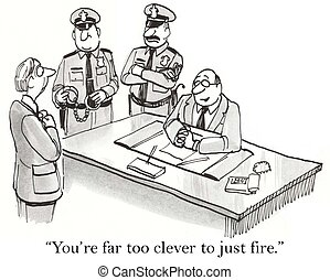 """Executive has done harm to the farm - """"You're far too clever..."""