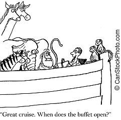"Traveler on Noah's Ark thinks it is cruise - ""Great cruise...."