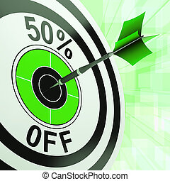 50 Percent Off Shows Discount Promotion Advertisement - 50...