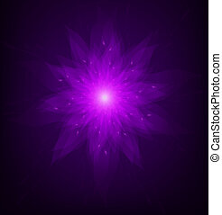 Abstract Lotus Flower (vector) - A deadly purple lotus....