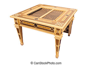 backgammon - table with a backgammon under the white...