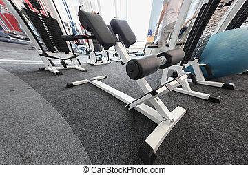 gym apparatus in a gim hall