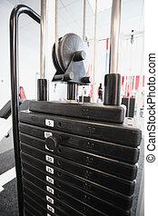 gym apparatus in a gim hall - gim apparatus in a gim hall