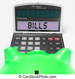 Bills Calculator Shows Invoices Payable And Accounting -...