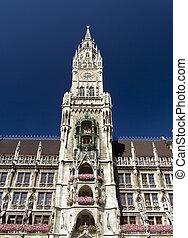 Munich Rathaus - The tower of Munich Rathaus