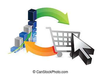 business graph shopping profits illustration