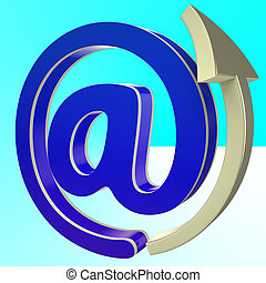 At-Symbol Shows E-mail Through Internet Technology
