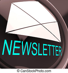 E-mail Newsletter Shows Letter Mailed Electronically...