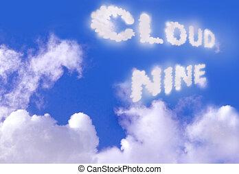 Cloud nine - Blue sky and cloud nine