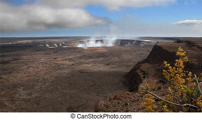 Kilauea Crater Time Lapse