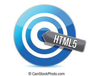 bullseye target internet html5 illustration design over...