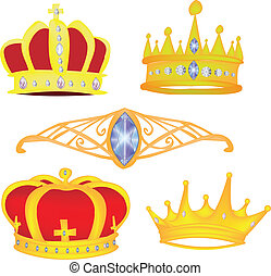 Crown Vector Graphic Set