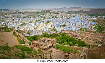 Jodhpur - View of Jodhpur, the Blue City, from Mehrangarh...