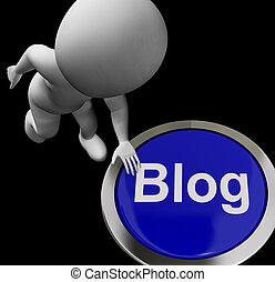 Blog Button For Blogger Or Blogging Web Sites - Blog Button...