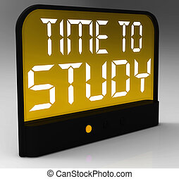 Time To Study Message Showis Education And Studying - Time...