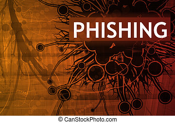 Phishing Security Alert Abstract Background in Red