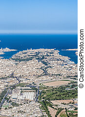 Valletta in Malta as seen from the air - Valletta Citta...