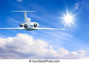 Flying in high sky