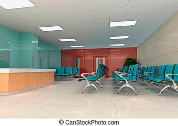 3d modern business hall
