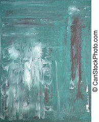 Turquoise and Grey Abstract Art