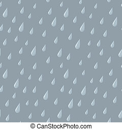 Seamless Rain Drops on Gray - A seamless pattern of falling...