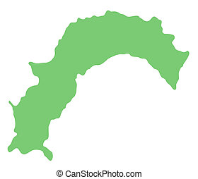 map of Kochi prefecture, Japan