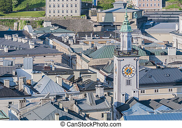 Old City Hall Altes Rathaus at Salzburg, Austria - Old City...