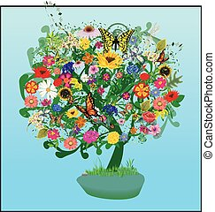 Tree of Life and Nature Vector