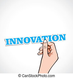 innovation word in hand