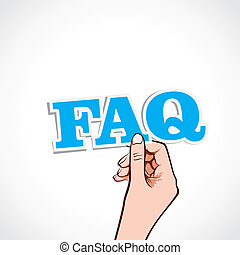 faq word in hand