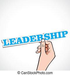 leadership word in hand