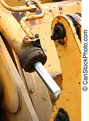 Old Truck Hydraulic Close Up