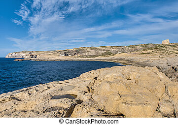 Dwajra Bay in Gozo Island, Malta - Dwajra Bay in the Maltese...