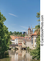 Ross Neckar Canal in Esslingen am Neckar, Germany - Ross...