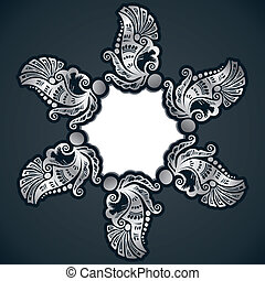 creative classic silver design background with sticker stock...