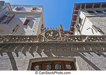 Generalitat in Barcelona, Spain - Generalitat Palace located...