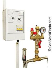 pressure reducer in white backround