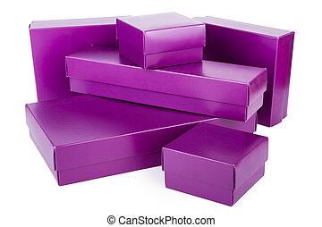 紫色, 箱子