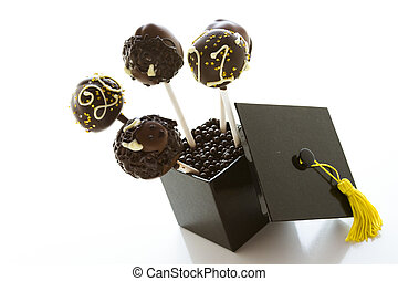 Cake pops - Gourmet chocolate cake pops decorated for...