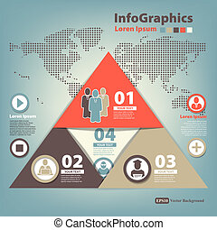 Modern Design template for infographics with pyramid of...