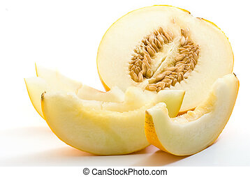 sliced cantaloupe melon - Fresh sliced cantaloupe melon on...