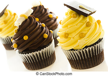 Cupcakes - Gourmet chocolate cupcakes decorated for...