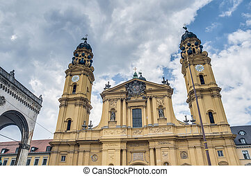 The Theatinerkirche St. Kajetan in Munich, Germany - The...