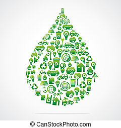 water drop design with eco green ic