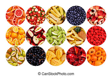Circle of Fruits - Collection of fruits for backgrounds