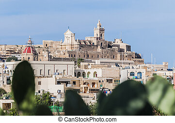 Cathedral in Rabat Victoria, Gozo Island, Malta - Cathedral...