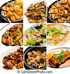 Colección, chino, asiático, alimento