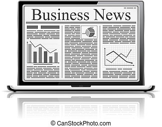 Business News - Business news with an abstract text and...