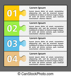 Design Template with Four Elements - Template of design with...